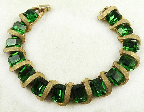 Newly Added Kramer Green Rhinestone Bracelet