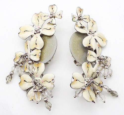 Newly Added Lunch at the Ritz Dogwood Branch Earrings