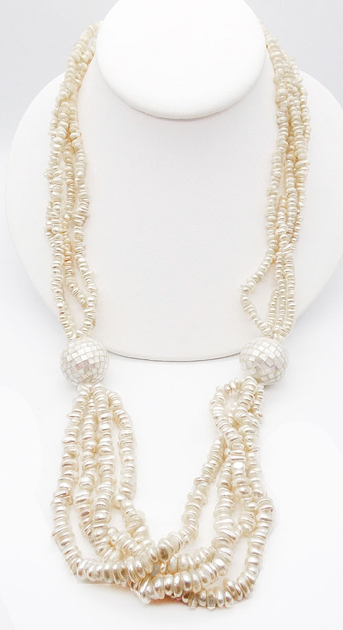 Newly Added Hobé Simulated Pearl Bead Necklace