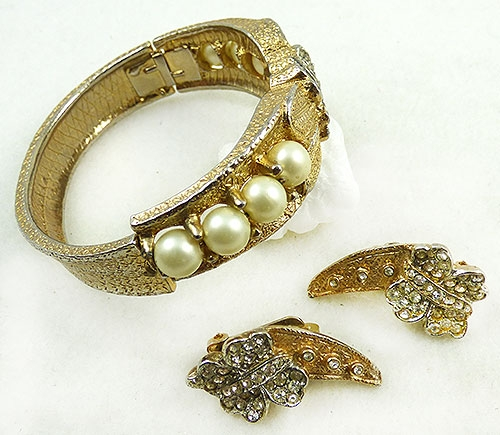 Jewelry & Watches Fashion Jewelry Butterfly Bracelet With Matching Clip-on Earrings