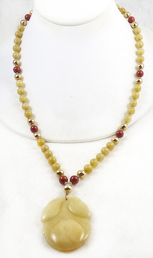 Newly Added Hobé Yellow Jade Necklace