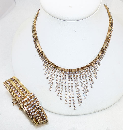 Newly Added Hobé Rhinestone Fringe Demi-Parure
