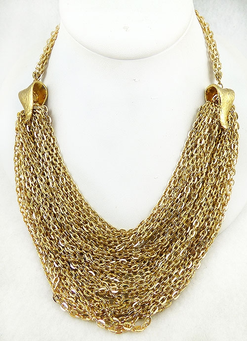 Newly Added Hobé Multi Gold Chains Necklace