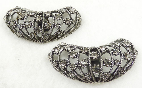 Newly Added Musi Domed Black Diamond Rhinestone Shoe Clips