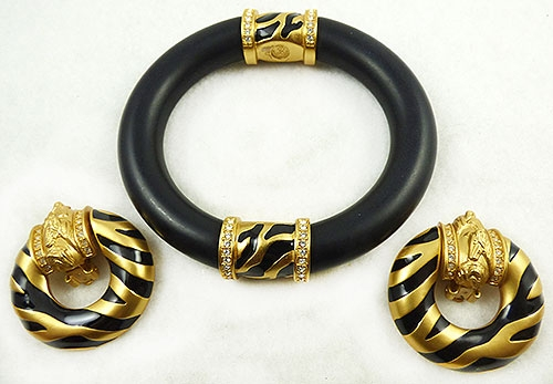 Newly Added Elizabeth Taylor for Avon Zebra Stripe Bracelet Set