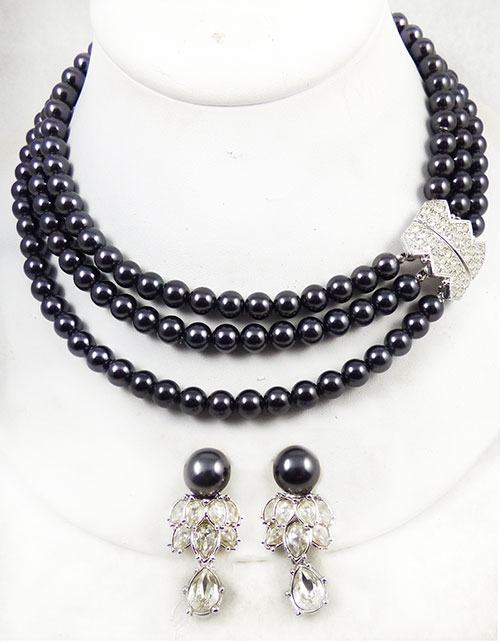 Newly Added Elizabeth Taylor for Avon Midnight Romance Necklace Set