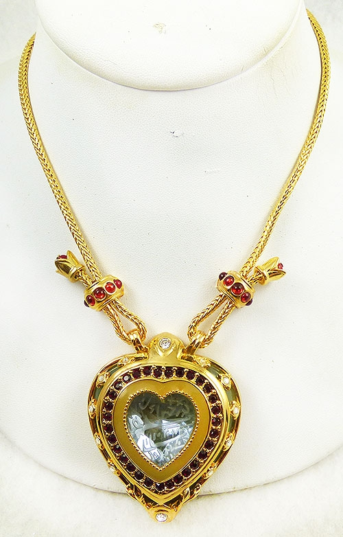 Newly Added Elizabeth Taylor Shah Jehan Heart Pendant Necklace