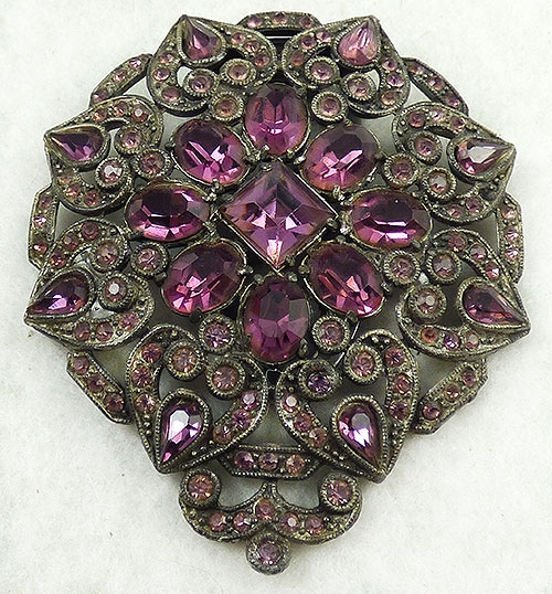 Newly Added Amethyst Rhinestone Dress Clip