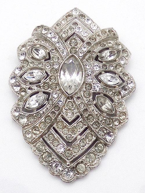 Bridal, Wedding, Special Occasion - Art Deco Clear Rhinestone Dress Clip