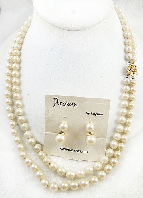 Pearl Jewelry - Laguna Persiana Pearl Necklace Set