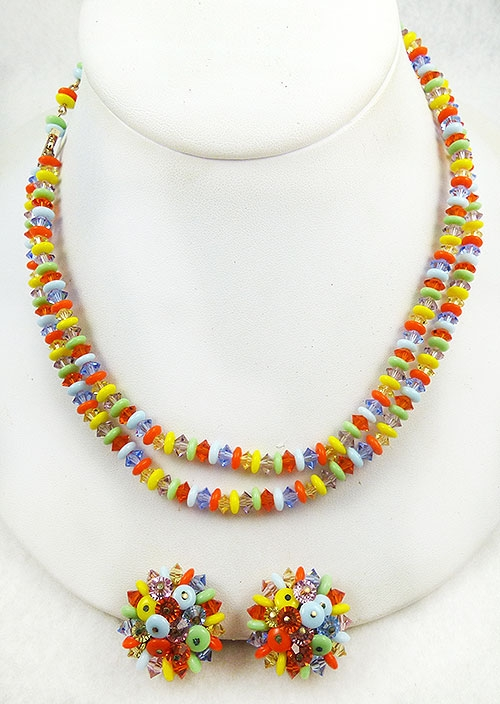 Newly Added Laguna Multi-Colored Crystal Beads Necklace Set