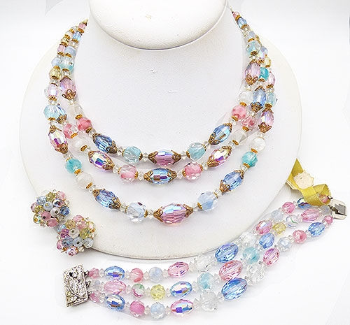 Newly Added Laguna Pastel Crystal Beads Parure