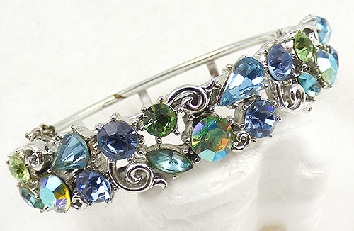 Newly Added Lisner Blue & Green Rhinestone Bracelet