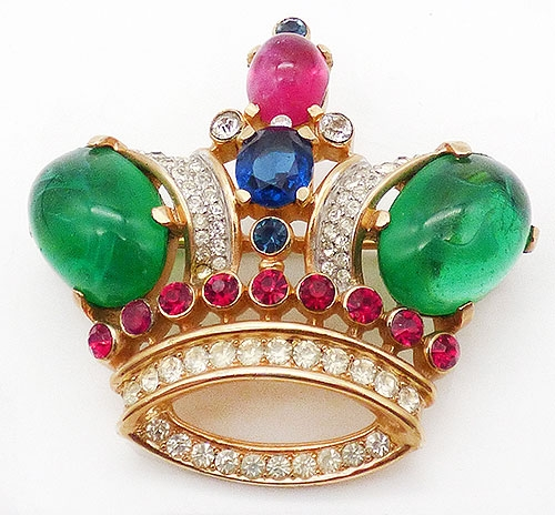 Newly Added Trifari Large Royal Crown Brooch