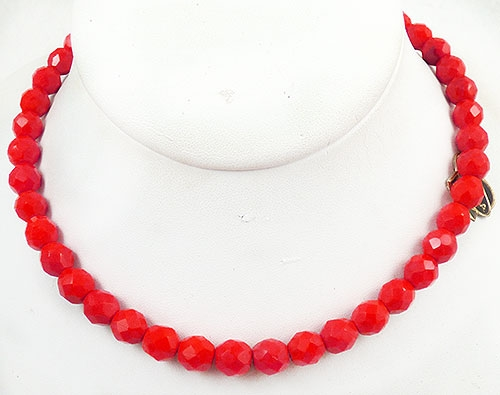 Laguna - Laguna Red Crystal Bead Necklace