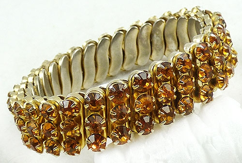 Japan - Japan Golden Topaz Rhinestone Expansion Bracelet