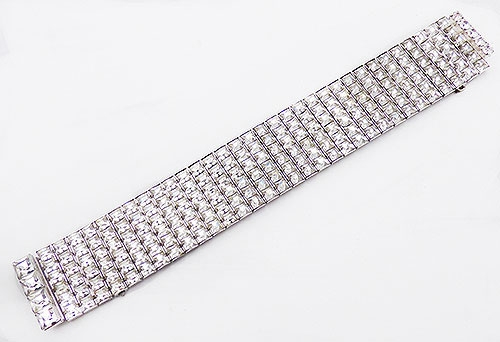 Newly Added Art Deco Square Rhinestones Bracelet