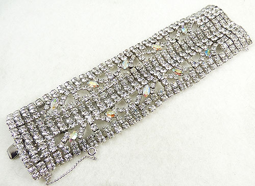Newly Added Gale Very Wide Rhinestone Bracelet