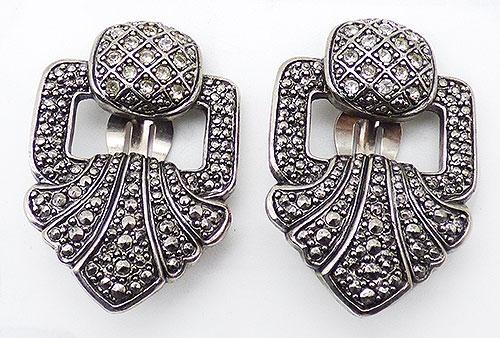 Newly Added Marcasite 'Look'  Door Knocker Style Earrings