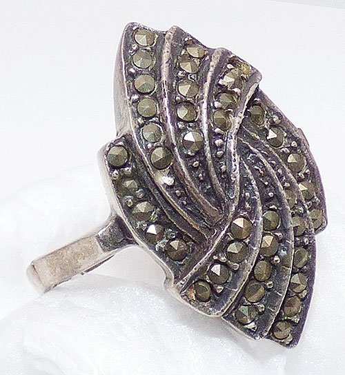 Newly Added Sterling Silver Marcasite Ring