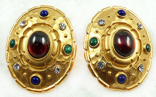 Newly Added Edgar Berebi Jeweled Oval Earrings