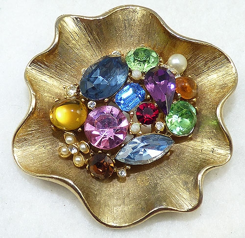Art - Art Multi Rhinestones Brooch