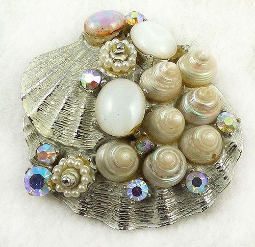 Art - Art Moonstone Aurora Shell Brooch