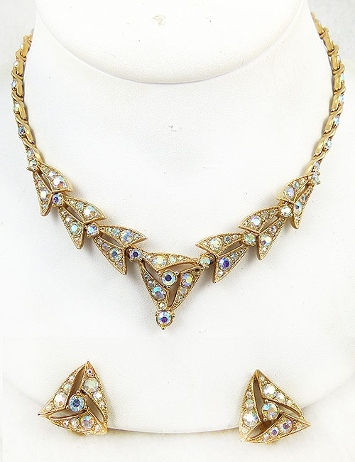 Newly Added Bogoff Aurora Rhinestone Necklace Set