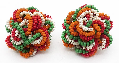 Newly Added Hobé Braided Beads Flower Earrings
