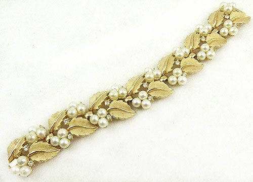Newly Added Trifari Golden Leaves Bracelet