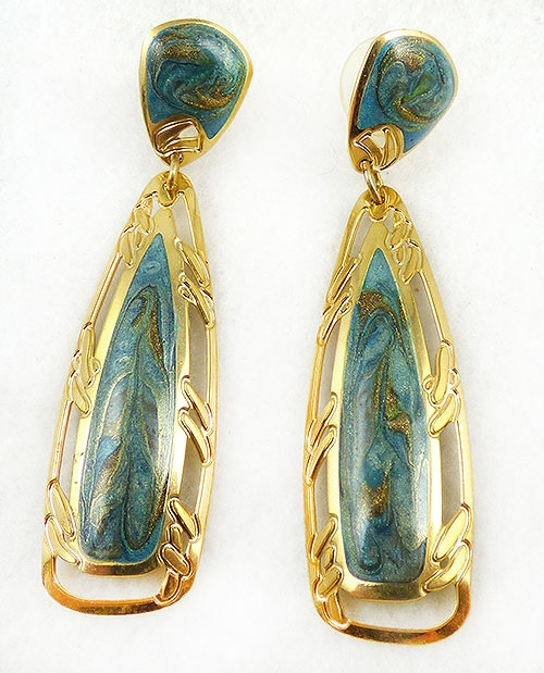 Berebi, Edgar - Edgar Berébi Geen Enamel Earrings