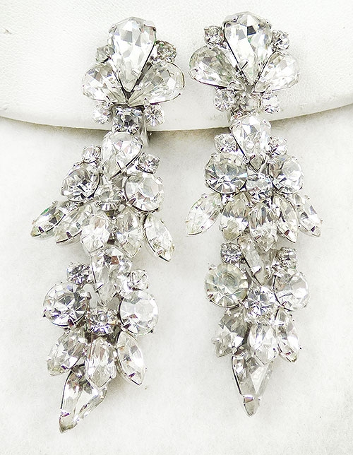 Newly Added Napier Clear Rhinestone Drop Earrings