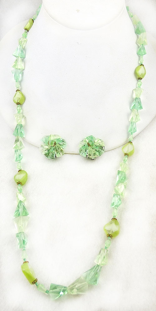 Germany - West Germany Lime and Yellow Necklace Set