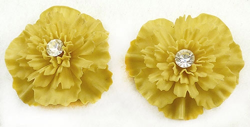 Florals - Yellow Carnation Earrings