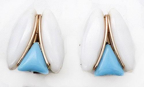 Germany - Western German Mid-Mod Glass Earrings