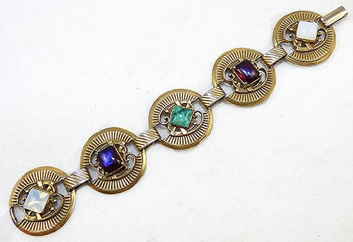 Newly Added Victorian Revival Glass Gems Bracelet