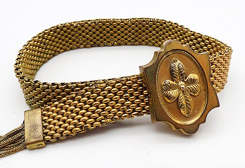 Newly Added Victorian Gold Filled Mesh Slide Bracelet