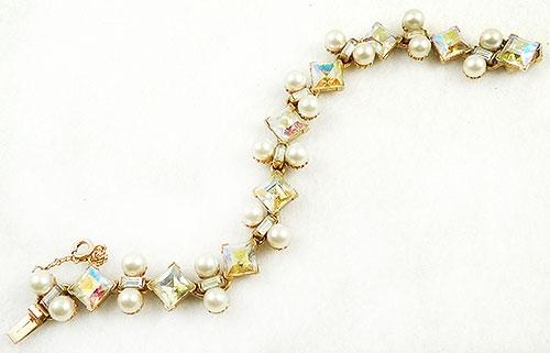 Newly Added Bogoff Pearl Aurora Rhinestones Bracelet