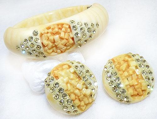 Sets & Parures - Yellow Thermoplastic Clamper Bracelet Set