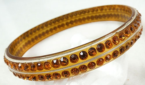 Newly Added Topaz Celluloid Sparkle Bracelet