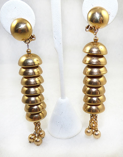 Napier - Napier Gold Stacked Bells Earrings