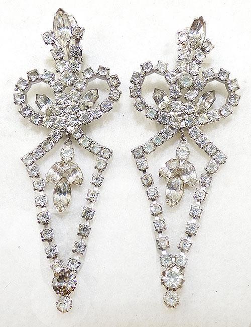 Hobé - Hobé 1965 Clear Rhinestone Earrings