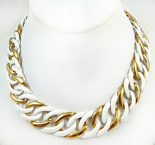 Necklaces - Napier White Curb Chain Necklace