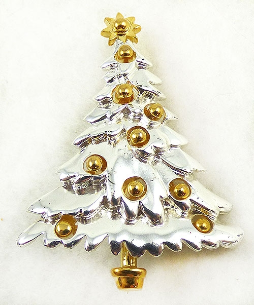 Newly Added Danecraft Silver Christmas Tree Brooch