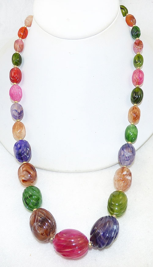 Necklaces - Colorful Lucite Beads Necklace