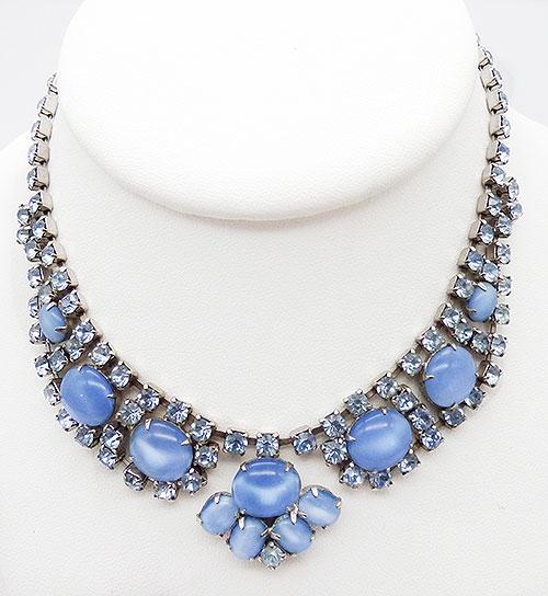 Newly Added Light Blue Glass Moonstone Necklace