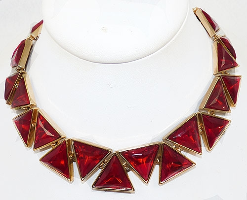 Lane, Kenneth J. - Kenneth Lane (KJL) Red Triangle Necklace