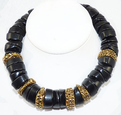 Lane, Kenneth J. - Kenneth Lane Chunky Black Bead Necklace