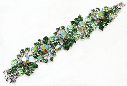 Newly Added DeLizza and Elster Green Rhinestone Bracelet