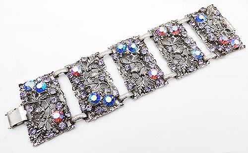Bracelets - Thelma Deutsch Wide Panel Link Bracelet